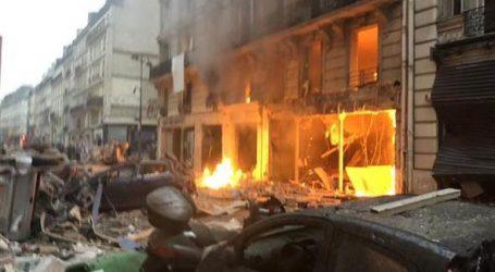 Pariste şiddetli patlama