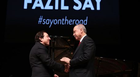 Erdoğan, Fazıl SAY' ın konserindeydi