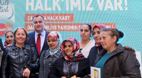 """Çankaya Belediyesinden  2000 aileye """"Halk Kart"""" desteği"""