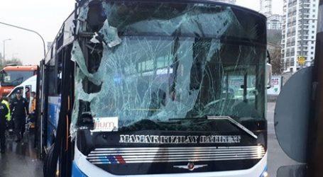 Ankara' da trafik kazası:10 yaralı