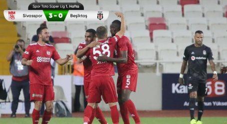 Beşiktaş Sivas'ta ağır yara aldı
