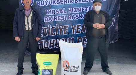 BAŞKENT'TE ÜRETİCİYE TOHUM DESTEĞİ