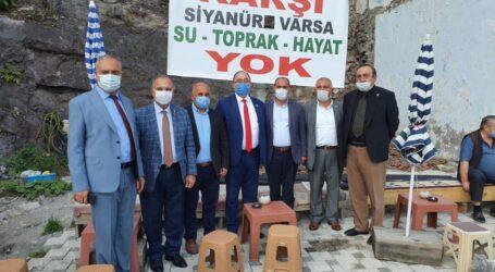 CHP LI BELEDIYE BAŞKANLARINDAN 'MURGUL'DAKİ SİYANÜRE HAYIR' KAMPANYASINA TAM DESTEK