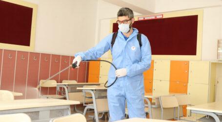 Çankaya da 243 okulda dezenfekte ve ilaçlama