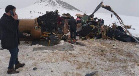 MSB:Helikopter kötü hava şartları nedeniyle düştü