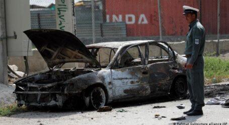 Kabil'de roket saldırısı altında bayram namazı