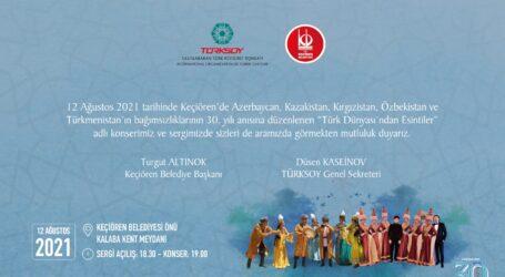 Türksoy Sergi ve Konseri 12 Ağustos ta Keçiören de